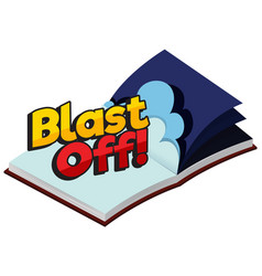Font design for word blast off in book vector
