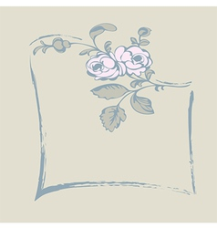 frame rose vector image