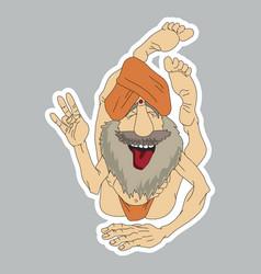 funny yogi sticker vector image