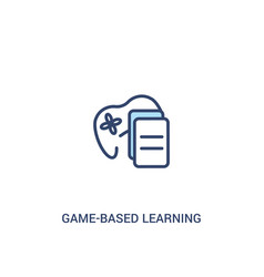Game-based learning concept 2 colored icon simple vector