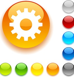 Gear button vector