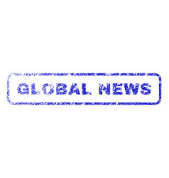global news rubber stamp vector image