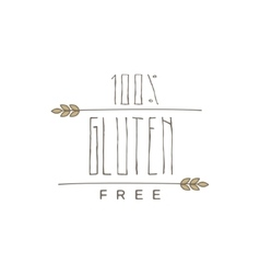 Gluten Free Product Label vector image