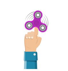 hand holding spinner vector image