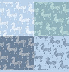 horse pattern template vector image