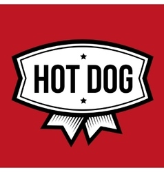Hot Dog vintage logo vector image