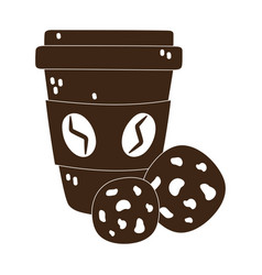 International day coffee paper takeaway cup vector