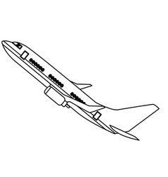 isolated airplane design vector image