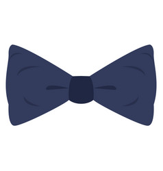 Isolated blue bowtie vector