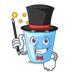 Magician glass of mineral water on cartoon vector