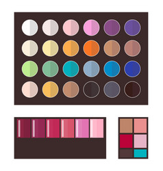 make up eyeshadows collection vector image