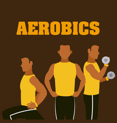 Man and aerobics vector