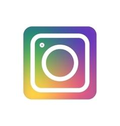 modern colorful flat camera app vector image