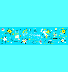 modern design floral background with yellow vector image