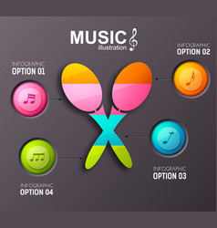 Musical infographic template vector