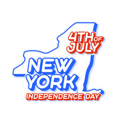 new york state 4th july independence day with vector image