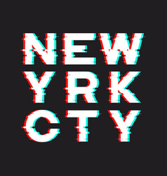 New york t-shirt and apparel design with noise vector
