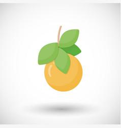 orange fruit flat icon vector image