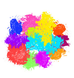 paint splash set brush strokes vector image
