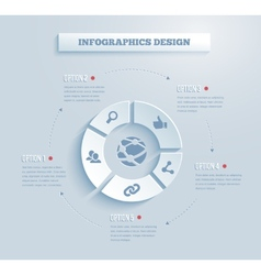 paper infographics icon vector image