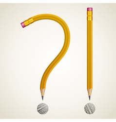 Pencils curved as question vector image