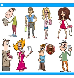 People characters set cartoon vector