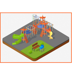 Playground isometric vector