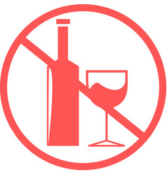 Prohibition alcohol haram drink vector