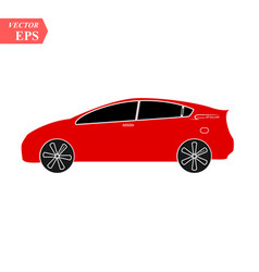 red car icon isolated simple front car logo sign vector image