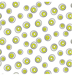 Retro abstract 50s circle dots geo seamless vector