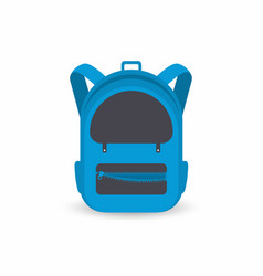 school backpack isolated on white background kids vector image