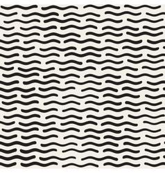 Seamless Hand Drawn Wavy Horizontal Lines vector