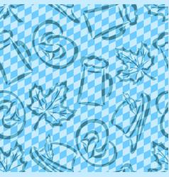 Seamless pattern for oktoberfest vector