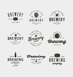 Set of vintage brewery logos vector