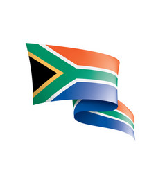 south africa flag on a white vector image