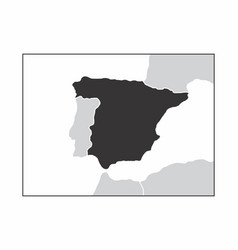 spain dark silhouette vector image