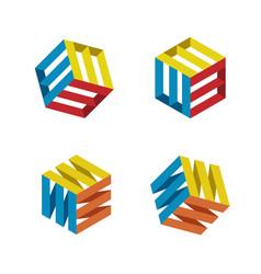 square strips box vector image