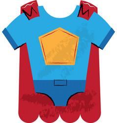 Super hero outfit children vector