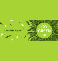 sustainable environment saving environmental vector image