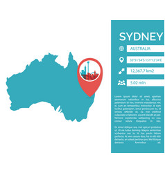 sydney map infographic vector image