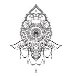 Tattoo template in mehndi style vector