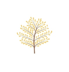 The thin trunk tree with leaves logo vector
