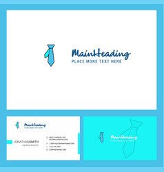 tie logo design with tagline front and back vector image