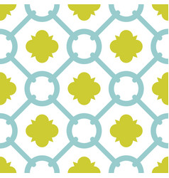 tile green and blue decorative floor tiles pattern vector image