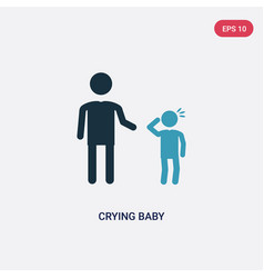 two color crying baicon from people concept vector image