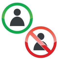 User permission signs set vector