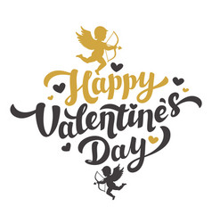 valentines day card with the image of cupid vector image