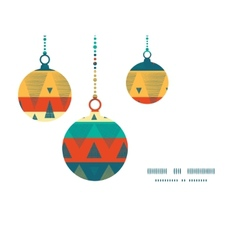 Vibrant ikat stripes Christmas ornaments vector