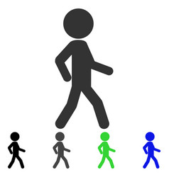 Walking child flat icon vector