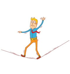 walking on string vector image